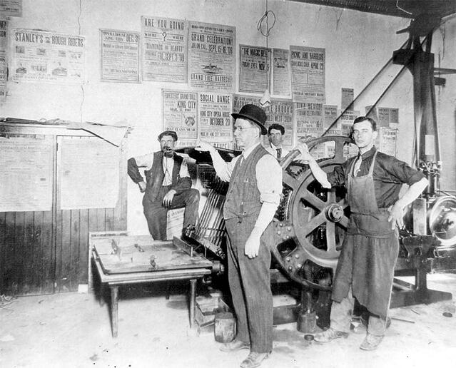 Fred Vivian, founder of the King City Rustler, which would eventually become Casey Printing