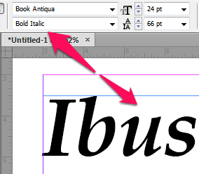 Font Style in InDesign