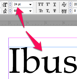 Point Size in InDesign