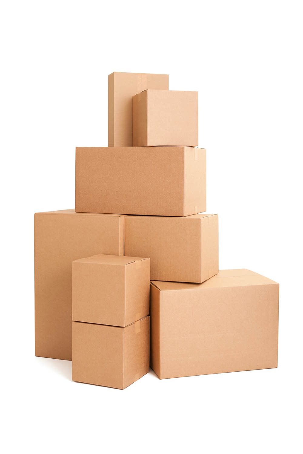 Image of corrugated boxes stacked up