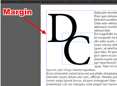 InDesign Margin