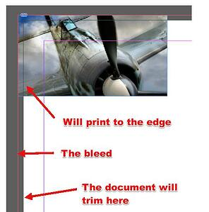 The bleed and trim in Adobe InDesign