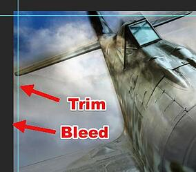 Trim and bleed in Adobe Photoshop
