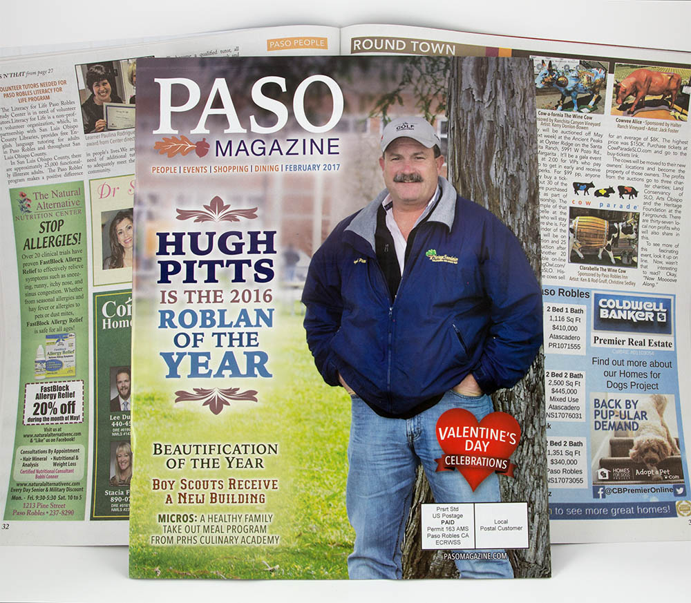 "Image of Paso Robles Magazine, an example of a ""Combo Book"""