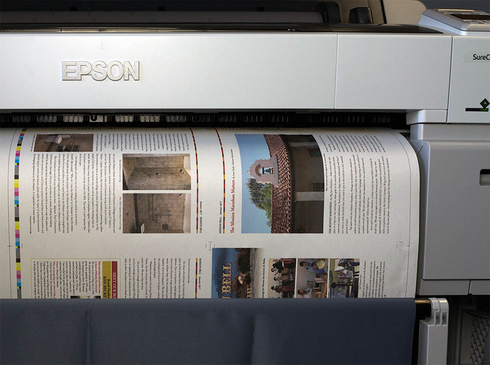 Image of publication proofing