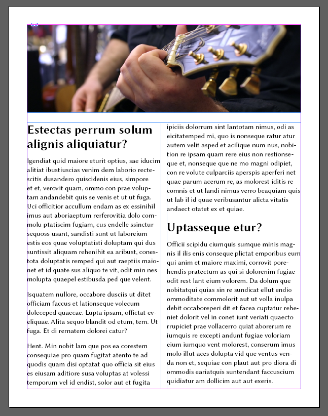 InDesign Newsletter Tamplate Finished
