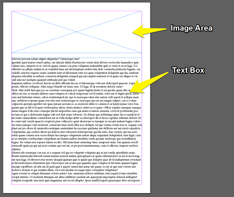 Setting Image Areas and Text Frames in InDesign