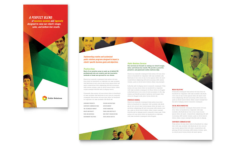 How To Create A Trifold Brochure In InDesign Free Template - Three fold brochure template